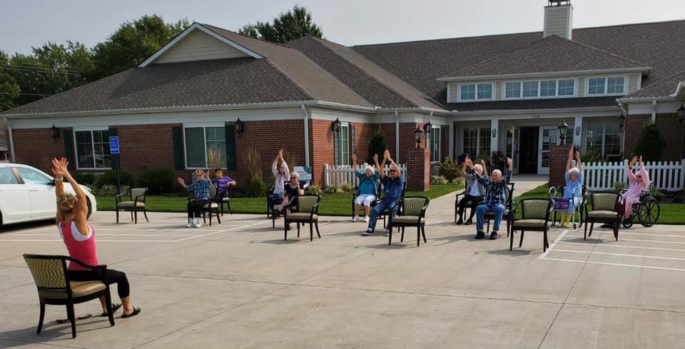 Outdoor Yoga - Country Place Senior Living